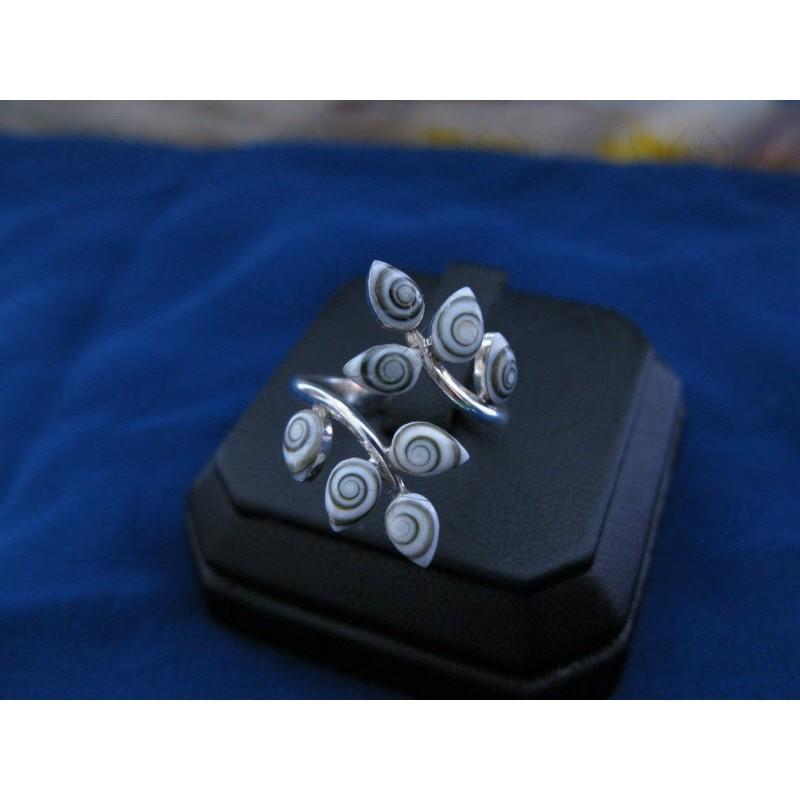 SR 0120 Ring Shiva Eye Shell Silver