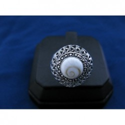 SR 0121 Ring Shiva Eye Shell Silver
