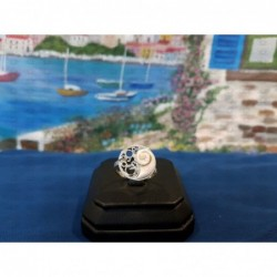 SR 0142 Ring Shiva Eye Shell Silver