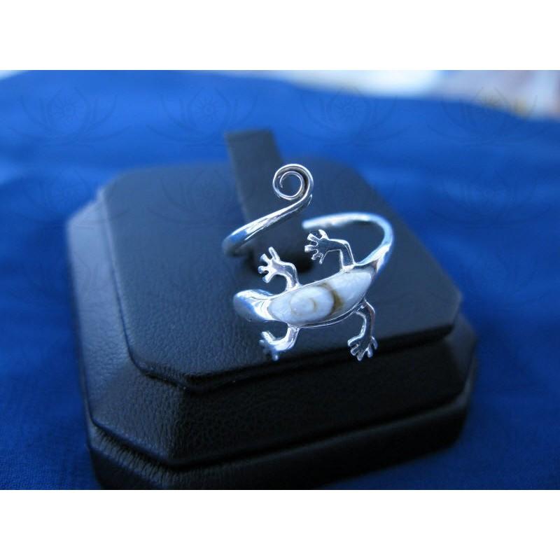 SR 0146 Ring Shiva Eye Shell Silver