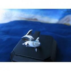 SR 0150 Ring Shiva Eye Shell Silver