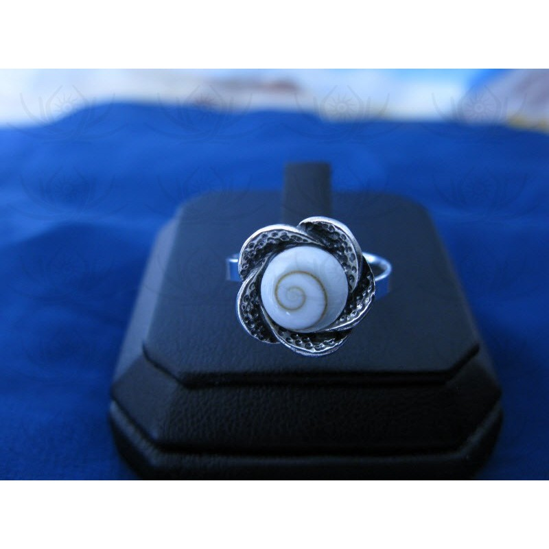 SR 0152 Ring Shiva Eye Shell Silver