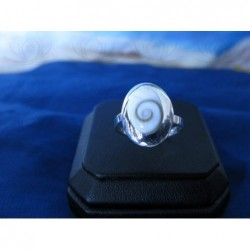 SR 0155 Ring Shiva Eye Shell Silver