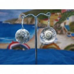 LE 0001 Earrings Shiva Eye Shell Silver