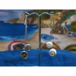 LE 0002 Earrings Shiva Eye Shell Silver