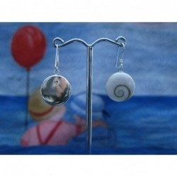 LE 0013 Earrings Shiva Eye Shell Silver