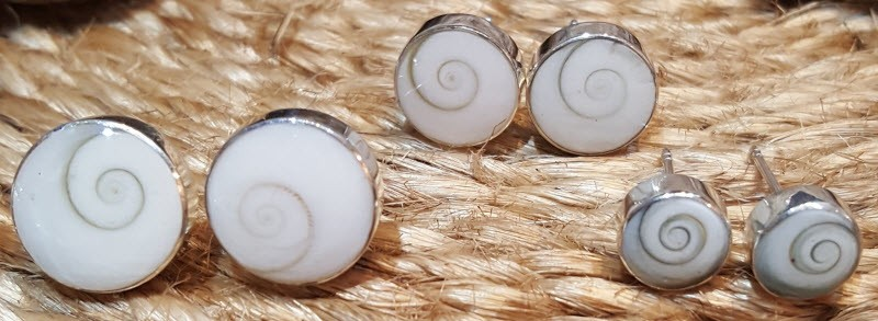 earrings shiva eye shell silver jewellery